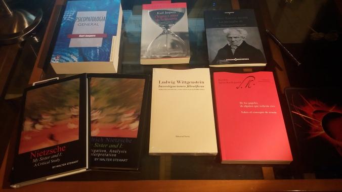 Algunas lecturas filosóficas y psicológicas recomendadas.